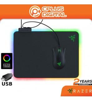 Razer Firefly Hard V2 RGB Gaming Mouse Pad: Customizable Chroma Lighting -Balanced Control & Speed -Non-Slip Rubber Base