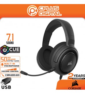 Corsair HS45-7.1 Virtual Surround Sound Gaming Headset w/USB DAC- Works with PC, Xbox Series, PS5, PS4, Nintendo Switch