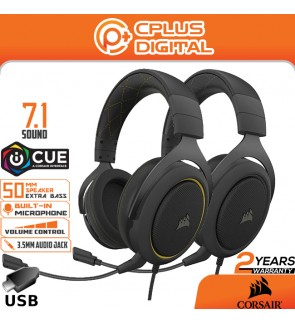 Corsair HS60 Pro – 7.1 Virtual Surround Sound PC Gaming Headset w/USB DAC - Works with PC, Xbox Series ,PS5 and Nintendo