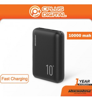 Rockrose Oasis 10S 10000mAh 2.1A Fast Charge USB-C + Micro USB Input with Power Indicator Power Bank