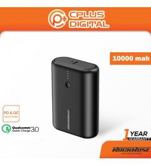 Rockrose Asha 10 Pro 10000 mAh Ultra-Compact PD & QC 3.0 with Power Indicator Power Bank