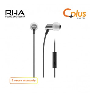 RHA S500 Universal : Compact Aluminium Noise Isolating In-Ear Headphones with Universal Remote & Microphone