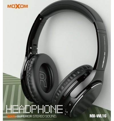 MOXOM MX-WL16 Wireless Bluetooth 5.0 Headphone Headset support Micro SD Card Superior Stereo Sound