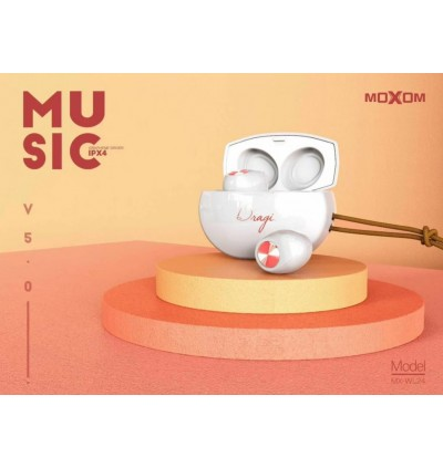 MOXOM MX-WL24 Bluetooth Earbuds True Leather Lanyard Superior Stereo Sound