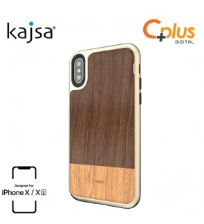 Kajsa Outdoor Collection For iPhone X/XS Wooden Pattern Case