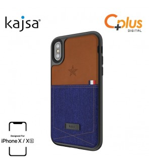 Kajsa Denim Collection - Pocket Back Case for iPhone X/XS
