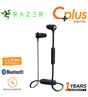 Razer Hammerhead BT Bluetooth 4.1 Wireless Earphone -Sweat Resistant Design - 8 Hour Battery Life - iOS and Android Compatible In-Line Controls