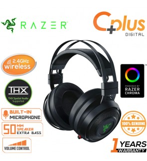 Razer Nari Wireless - 2.4GHz Wireless THX Spatial Audio Chroma RGB Gaming Headset with Mic Works for PC, PS4, Xbox One, Switch & Mobile Devices