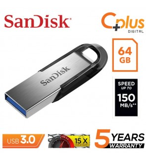 SanDisk 64GB CZ73 Ultra Flair 150 MB/s USB 3.0 Flash Drive SDCZ73-064G-G46