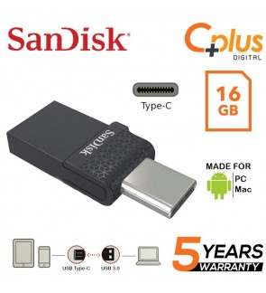 SanDisk Dual Flash Drive Type-C 16GB OTG USB for Android Smartphone, Computers & Tablets SDDDC1