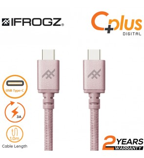 iFrogz Uniquesync Premium 3A Type C to Type C Charge and Sync Nylon Braided Cable 1.0M