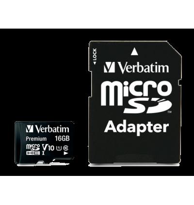 Verbatim microSDHC,C10, 80MB/S With SD Adapter 16GB/32GB/64GB/128GB