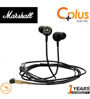 Marshall Mode EQ in-Ear Headphones with Microphone, Black/Brass
