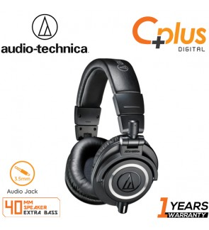 Audio Technica ATH-M50X Professional Monitor Wired Headphones