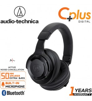 Audio Technica ATH-WS990BT Solid Bass® Wireless Over-Ear Headphones with Built-in Mic & Control & Noise Cancelling