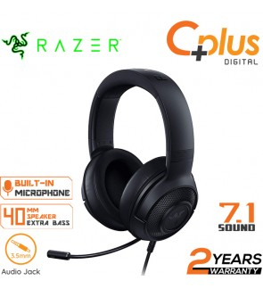 Razer Kraken X Ultralight Gaming Headset: 7.1 Surround Sound Capable - Lightweight Frame - Bendable Cardioid Microphone - For PC, Xbox, PS4, Nintendo Switch - Black