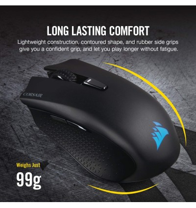 Corsair Harpoon RGB Wireless Rechargeable Gaming Mouse - 10,000 DPI Optical Sensor