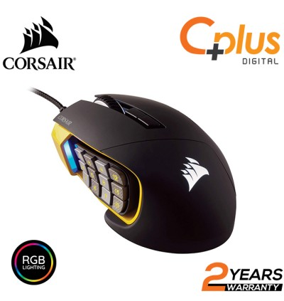 Corsair Scimitar Pro RGB Gaming Mouse - 16,000 DPI Optical Sensor - 17 Programmable Buttons