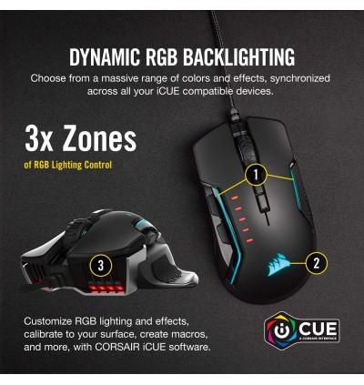Corsair Glaive Pro - RGB Gaming Mouse - Comfortable & Ergonomic - Interchangeable Grips - 18,000 DPI Optical Sensor