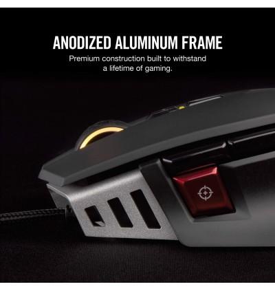 Corsair M65 Elite RGB FPS Gaming Mouse - 18,000 DPI Optical Sensor - Adjustable DPI Sniper Button - Tunable Weights