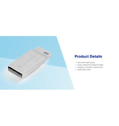 Verbatim Metal Executive USB2.0 Pendrive 16GB