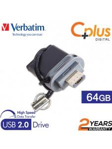 Verbatim Dual Drive OTG Micro USB 2.0 Flash Drive 64GB