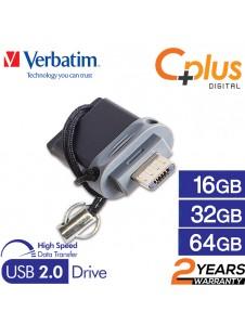 Verbatim Dual Drive OTG Micro USB 2.0 Flash Drive 16GB/32GB/64GB