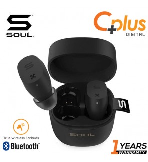 Soul Electronics ST-XX Superior High Performance True Wireless Earphone, Bluetooth Earbuds with Charging Box and Microphone