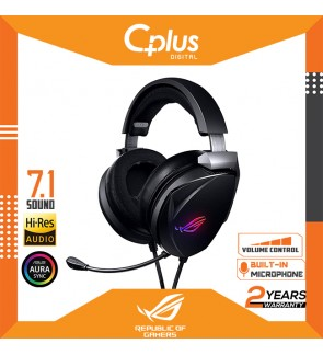 ASUS ROG Gaming Headset Theta 7.1 USB-C Gaming Headset for PC, Playstation 4, Nintendo Switch and Discord with AI Noise-Cancelling Microphone,7.1 DAC, and Aura Sync RGB Lighting