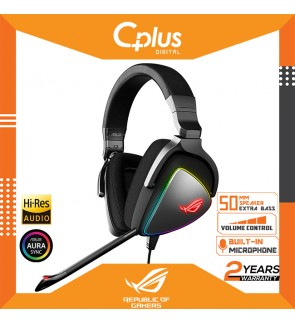 Asus ROG Gaming Headset Delta S USB-C Gaming Headset for PC, Mac, PlayStation 4,Discord with Hi-Res ESS Quad-DAC, Digital Microphone, and Aura Sync RGB Lighting