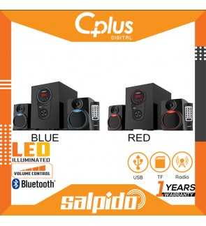 Salpido Caproni 2X 2.1 Channel Bluetooth LED Speaker with Remote Control , Support for USB, SD Cards, FM Functions
