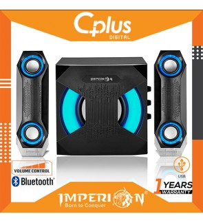 Imperion R1 2.1 Channel Bluetooth Speaker with RGB Lightning, Support for USB