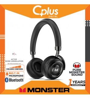 Monster ICON Active Noise Cancelling Bluetooth Headphones with Mic & Volume Control and 30 Hours Playtime for Work / Travel